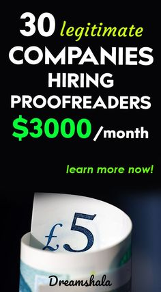 30 Websites To Find Freelance Editing And Proofreading Jobs - Dreamshala Earn Money From Home, Way To Make Money, Make Money Online, Legitimate Online Jobs, Companies Hiring, Student Jobs, Easy Jobs, Proofreader, Online Income