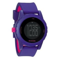 NIXON Women's A326-230 Plastic Analog Black Dial Watch NIXON. $139.15. Quartz movement. Case diameter: 25 mm. Scratch resistant mineral. Water-resistant to 100 M (330 feet). Plastic case