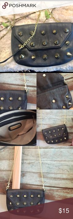 "Steve Madden Studded Chain Strap Purse Amazing small approx 10""Wx7""L crossover chain strap studded purse by Steve Madden!! Steve Madden Bags Crossbody Bags"