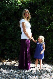 Maxi Skirt, Maternity Edition   DIY   super simple