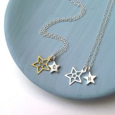 Star And Initial Necklace