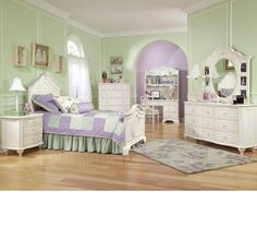 Enchantment Panel Bedroom Set-Enchantment is a collection fit for the princess in your family. Every little girl needs a special place for her own where she can let her imagination run wild. Make her fantasies come to life with the picture perfect ro