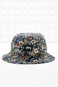 6c2cbf192fb Stussy Reversible Bucket Hat in Black Island Print - Urban Outfitters Bucket  Hat