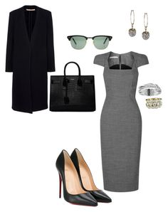 """""""Work"""" by cgraham1 on Polyvore featuring Antonio Berardi, Christian Louboutin, Alexander McQueen, Yves Saint Laurent, Stephen Dweck and Ray-Ban"""