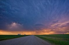 The beauty of the prairie sky during a lightning storm near Buffalo Pound Lake in Saskatchewan