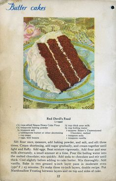 It has fallen apart and most likely belonged to my mate. Retro Recipes, Old Recipes, Vintage Recipes, Cookbook Recipes, Cake Recipes, Dessert Recipes, Cooking Recipes, Homemade Cookbook, Recipes