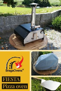 The Fiesta portable pizza oven is the easiest in the market. It's a wood-burning pizza oven. You only need to plug the chimney into place, fit the refractory fire brick inside the oven and it's ready to be fired up. Portable Pizza Oven, Pizza Oven Outdoor, Wood Fired Oven, Wood Fired Pizza, Perfect Pizza, Food Trailer, Pizza Party, Caravans, Ovens