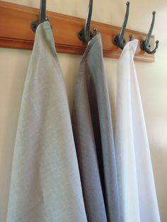 Gray Linen Tea Towel, Kitchen Linens by nikkidesigns on Etsy https://www.etsy.com