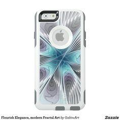 Flourish Elegance, modern Fractal Art OtterBox iPhone 6/6s Case