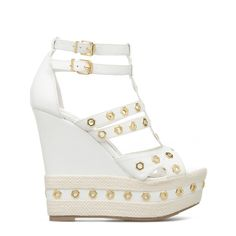 Bellini - ShoeDazzle - So elegant! Love these white wedges.