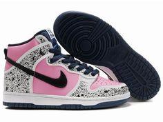 Chaussures Nike Dunk High Blanc  Noir  Rose  Bleu  nike 11807  - € 90af8ee520f70
