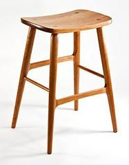 Berry Bar Stool in cherry -- http://www.garyweeks.com/bar_stools.htm