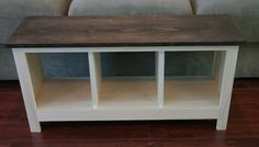 Two-Tone Entryway Bench -Custom Furniture-Shoe Cubby -Cubby storage bench- Bench Seat- Entertainment Center by…
