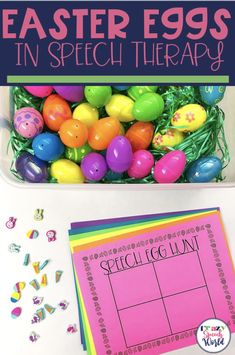 Easter Eggs in Speech Therapy! (Freebie)