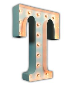 Look at this White 24'' 'T' Vintage Marquee Light