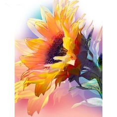 Pretty sunflower painting inspiration, would be lovely watercolor, acrylic or oil painting. Pastel Watercolor, Watercolor Paintings, Watercolors, Sunflower Watercolour, Watercolor Video, Watercolor Pictures, Art Floral, Sunflower Art, Sunflower Paintings