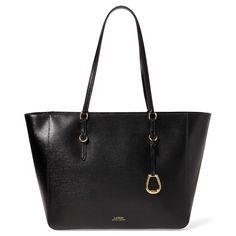 aa0cc3316fc BuyLauren Ralph Lauren Saffiano Leather Tote Bag, Black Online at  johnlewis.com Ralph Lauren