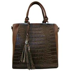 Light Brown Textured Handbag Tote With Tassel (€43) ❤ liked on Polyvore featuring bags, handbags, tote bags, purses, light brown, top handle bag, brown tote, brown handle bags, handle bag and brown purse