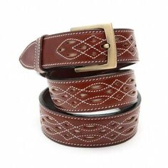 Authentic Spanish leather belt in brown, also available in tan.  Featuring gorgeous handcrafted Spanish detailing.
