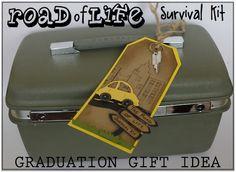 "Creative ""Try""als: Road of Life Survival Kit - Graduation Gift Idea"