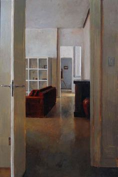 """Lately I have been loving the paintings of artist, Kenny Harris.    (Painting Camilla's Flat, oil on panel, 48 x 32"""", 2006)"""