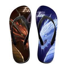 TOPNN Fire VS Ice Slipper Flip-Flops >>> For more information, visit image link.