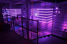 Purple Neon Glow Stairs