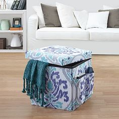 The beautifully stylish and conveniently handy Jolie Folding Ottoman from Anthology provides both seating and storage capability. This versatile piece is great for a bedroom, living room, and even a dorm. #StudentLifeHappens #college