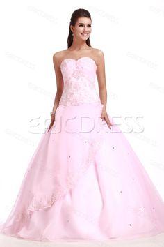 Elegant Strapless Sleeveless Floor-length Sandras Ball Gown Quinceanera Dress