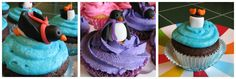 How to make fondant penguin cupcake toppers