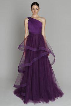 Monique Lhuillier Pre-Fall 2011 purple dress fashion | Purple passion | More purple lusciousness here: http://mylusciouslife.com/purple-passion/