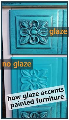 DIY Furniture Refinishing Tips - Glazed Accent Painted Furniture - Creative Ways…