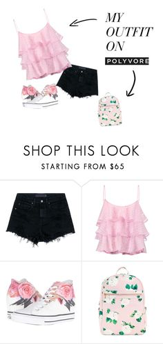 """schoolgirl"" by amniaali ❤ liked on Polyvore featuring Alexander Wang, Pierre Balmain and Converse"