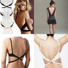aa29ca6b2f66d Sexy Adjustable Low Backless Bra Strap Extender Converter Party Evening  Dress