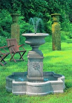 Palazzo Urn Fountain- The Garden Gate. I would love a fountain like this one but with plants planted in the top urn. Strawberries?
