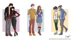 modern avatar couples. Luv Mai & Zukkos outfits!