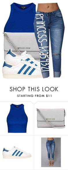 """""""*"""" by princess-kia54321 ❤ liked on Polyvore featuring Topshop, MICHAEL Michael Kors and adidas Originals"""