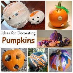 Decorate Pumpkin: Lots of Ideas!!!