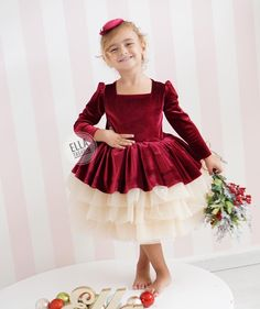 Image may contain: 1 person Baby Girl Party Dresses, Little Girl Dresses, Flower Girl Dresses, Baby Dress Patterns, Baby Clothes Patterns, Baby Girl Fashion, Kids Fashion, Baby African Clothes, Frocks And Gowns