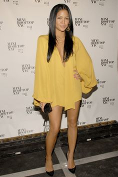 Cassie Ventura - shirt/dress