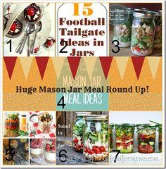 Huge Mason Jar Meals Round Up - Faith Filled Food for Moms