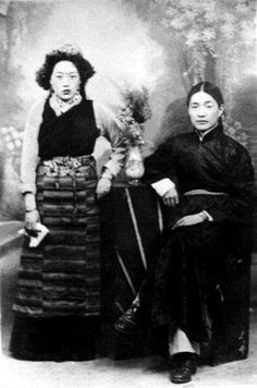 His Holiness Dudjom Rinpoche and Consort.