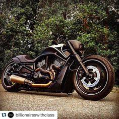 #Repost @billionaireswithclass Black Harley Davidson. or ? #luxury #billionaire #harleydavidson #harley #black #bicycle #travel #millionaire | via @nightrodbeast
