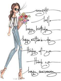 Happy Everything BR (greeting card) Happy Birthday Girlfriend, Happy Birthday Girls, Happy Birthday Pictures, Birthday Messages, Birthday Quotes, Birthday Wishes, Birthday Greetings For Women, Birthday Prayer, Birthday Clipart