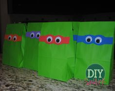 Ninja Turtle Party Favor Bags  - for my sweet nephews who are enjoying TMNT these days
