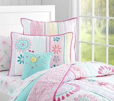 Maya Dandelion Quilted Bedding #pbkids