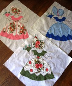 southern belle applique and embroidery Vintage Quilts Patterns, Quilt Block Patterns, Applique Patterns, Applique Quilts, Quilt Blocks, Quilting Tutorials, Quilting Projects, Quilting Designs, Sewing Projects