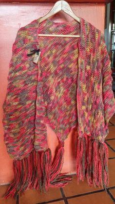Ruana tejida crochet..