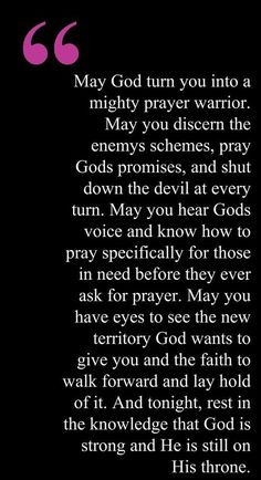 My prayer for you!