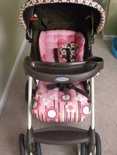 Baby Girl Stroller System W/Base Must Go